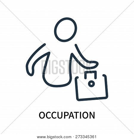 Occupation Icon Isolated On White Background. Occupation Icon Simple Sign. Occupation Icon Trendy An