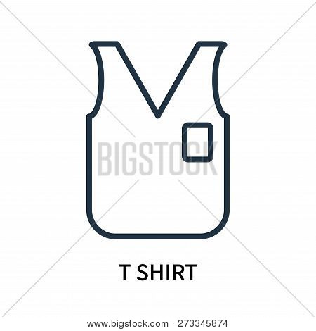 T Shirt Icon Isolated On White Background. T Shirt Icon Simple Sign. T Shirt Icon Trendy And Modern