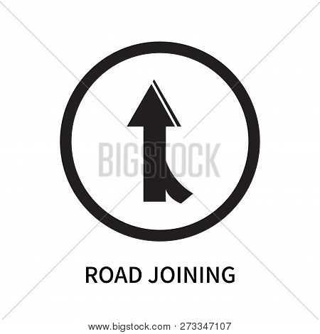 Road Joining Icon Isolated On White Background. Road Joining Icon Simple Sign. Road Joining Icon Tre