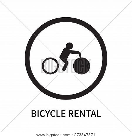 Bicycle Rental Icon Isolated On White Background. Bicycle Rental Icon Simple Sign. Bicycle Rental Ic