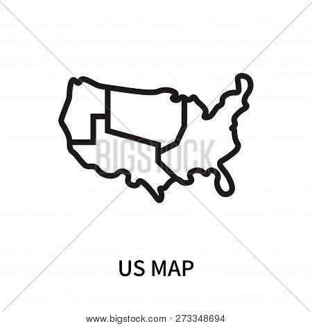 Us Map Icon Isolated Vector & Photo (Free Trial) | Bigstock