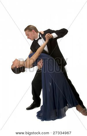 A young modern couple dancing
