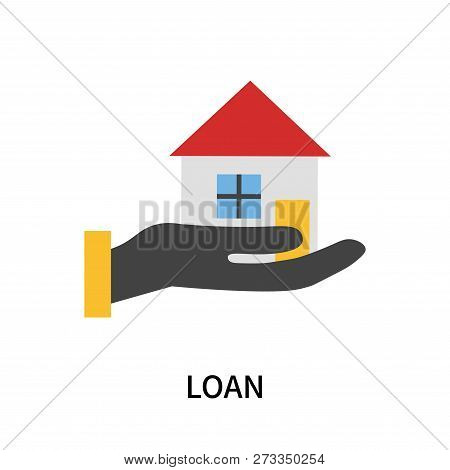 Loan Icon Isolated On White Background. Loan Icon Simple Sign. Loan Icon Trendy And Modern Symbol Fo