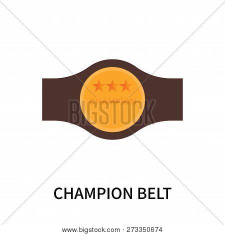 Champion Belt Icon Isolated On White Background. Champion Belt Icon Simple Sign. Champion Belt Icon