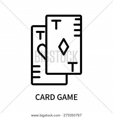 Card Game Icon Isolated On White Background. Card Game Icon Simple Sign. Card Game Icon Trendy And M