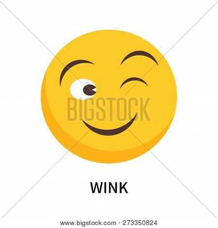 Wink Icon Isolated On White Background. Wink Icon Simple Sign. Wink Icon Trendy And Modern Symbol Fo