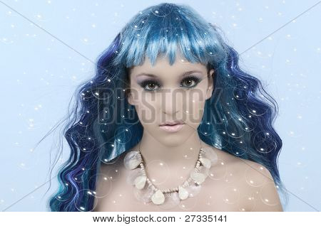 Mermaid with bubbles