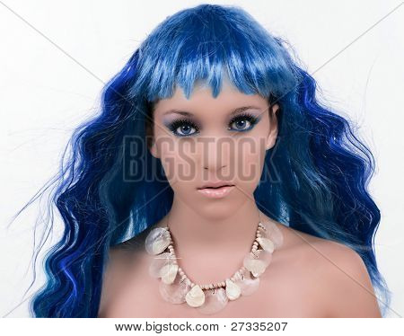Mermaid with beautiful make up