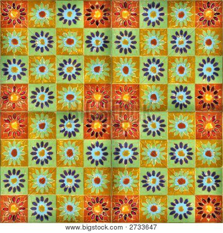 Hand-Painted Enamel Tiles