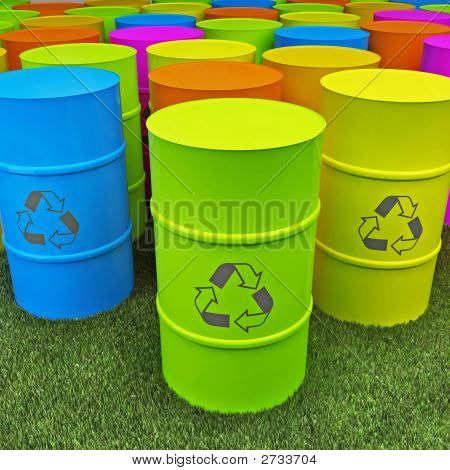 lare image 3d of eco recycling tank poster