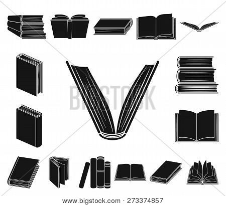 Book In The Binding Black Icons In Set Collection For Design. Printed Products Vector Symbol Stock W