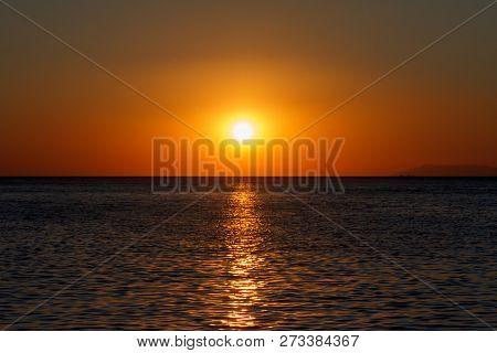 Bronze Sea Sunset Whit Gold Sunny Road