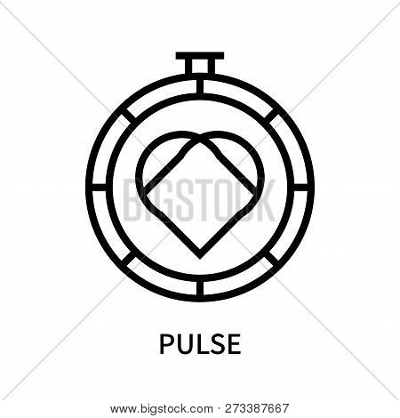 Pulse Icon Isolated On White Background. Pulse Icon Simple Sign. Pulse Icon Trendy And Modern Symbol