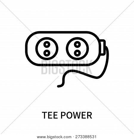 Tee Power Icon Isolated On White Background. Tee Power Icon Simple Sign. Tee Power Icon Trendy And M