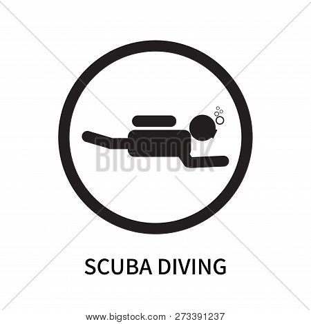 Scuba Diving Icon Isolated On White Background. Scuba Diving Icon Simple Sign. Scuba Diving Icon Tre