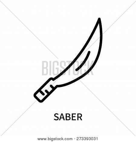 Saber Icon Isolated On White Background. Saber Icon Simple Sign. Saber Icon Trendy And Modern Symbol