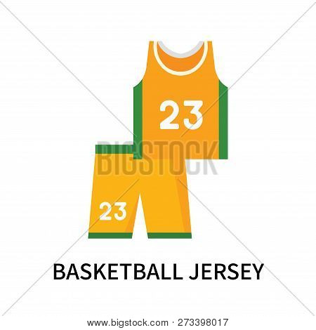 Basketball Jersey Icon Isolated On White Background. Basketball Jersey Icon Simple Sign. Basketball