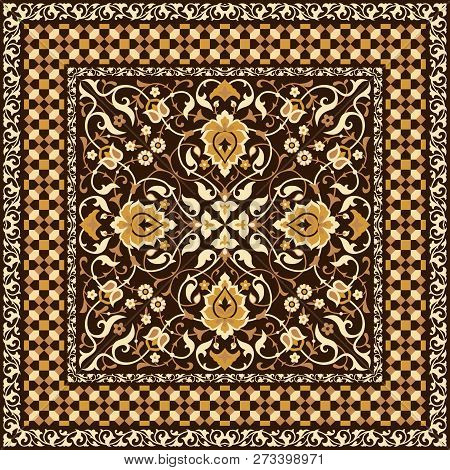 Floral Pattern In Arabic Style