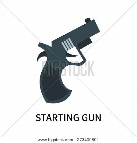 Starting Gun Icon Isolated On White Background. Starting Gun Icon Simple Sign. Starting Gun Icon Tre