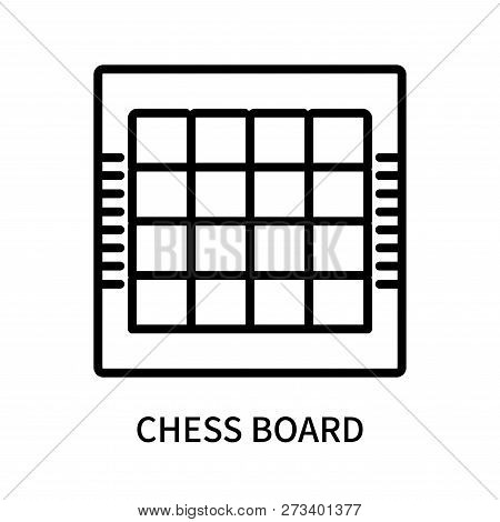 Chess Board Icon Isolated On White Background. Chess Board Icon Simple Sign. Chess Board Icon Trendy