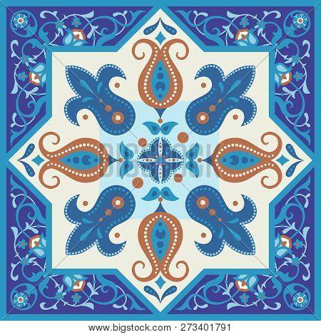 Vintage Ornamental Tile Design