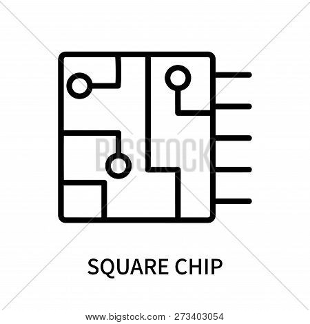 Square Chip Icon Isolated On White Background. Square Chip Icon Simple Sign. Square Chip Icon Trendy