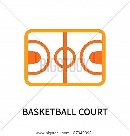 Basketball Court Icon Isolated On White Background. Basketball Court Icon Simple Sign. Basketball Co