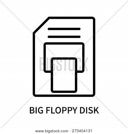 Big Floppy Disk Icon Isolated On White Background. Big Floppy Disk Icon Simple Sign. Big Floppy Disk
