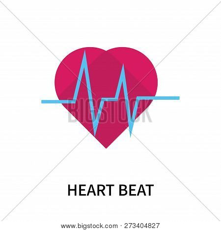 Heart Beat Icon Isolated On White Background. Heart Beat Icon Simple Sign. Heart Beat Icon Trendy An