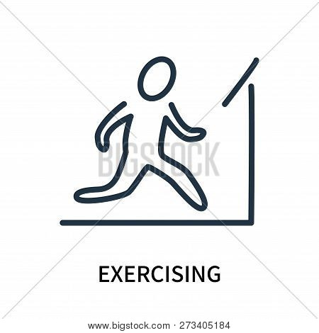 Exercising Icon Isolated On White Background. Exercising Icon Simple Sign. Exercising Icon Trendy An