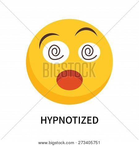 Hypnotized Icon Isolated On White Background. Hypnotized Icon Simple Sign. Hypnotized Icon Trendy An
