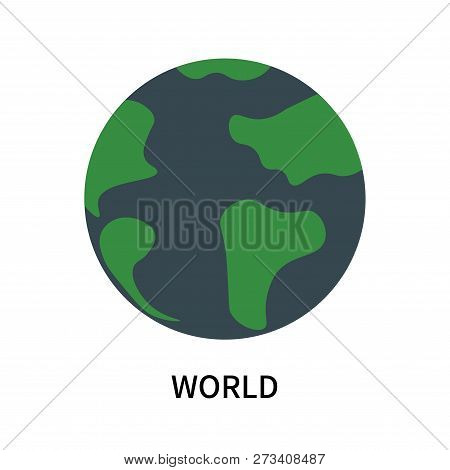 World Icon Isolated On White Background. World Icon Simple Sign. World Icon Trendy And Modern Symbol