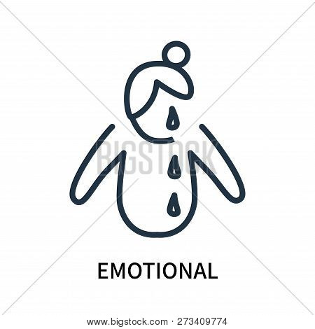 Emotional Icon Isolated On White Background. Emotional Icon Simple Sign. Emotional Icon Trendy And M