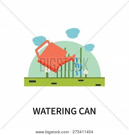 Watering Can Icon Isolated On White Background. Watering Can Icon Simple Sign. Watering Can Icon Tre