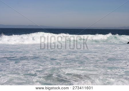 This Is An Image Of The Incoming Tide Taken At Pacific Grove, California.