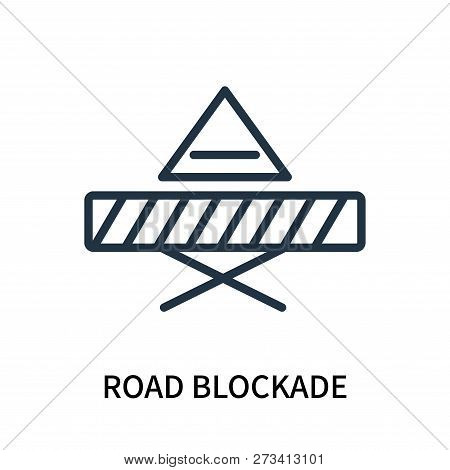 Road Blockade Icon Isolated On White Background. Road Blockade Icon Simple Sign. Road Blockade Icon