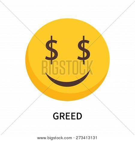 Greed Icon Isolated On White Background. Greed Icon Simple Sign. Greed Icon Trendy And Modern Symbol