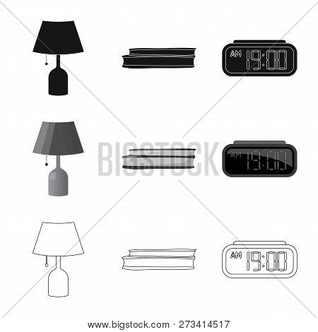 Vector Illustration Of Dreams And Night Symbol. Set Of Dreams And Bedroom Stock Vector Illustration.