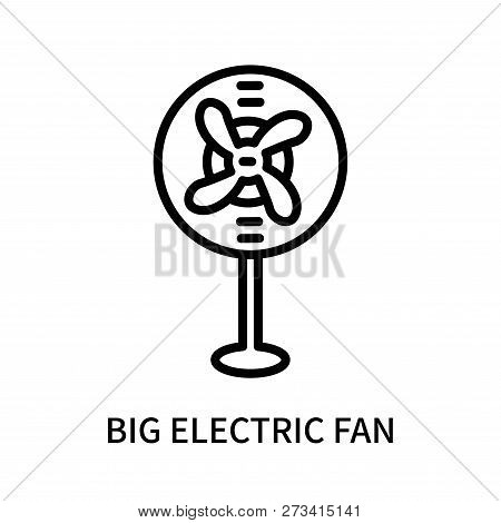 Big Electric Fan Icon Isolated On White Background. Big Electric Fan Icon Simple Sign. Big Electric