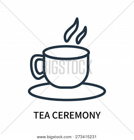 Tea Ceremony Icon Isolated On White Background. Tea Ceremony Icon Simple Sign. Tea Ceremony Icon Tre