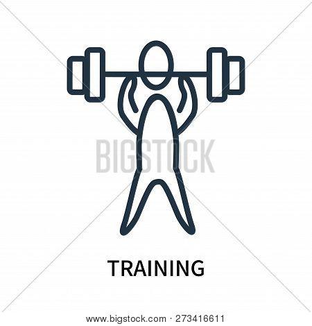 Training Icon Isolated On White Background. Training Icon Simple Sign. Training Icon Trendy And Mode