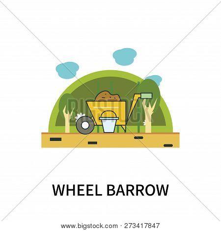 Wheel Barrow Icon Isolated On White Background. Wheel Barrow Icon Simple Sign. Wheel Barrow Icon Tre