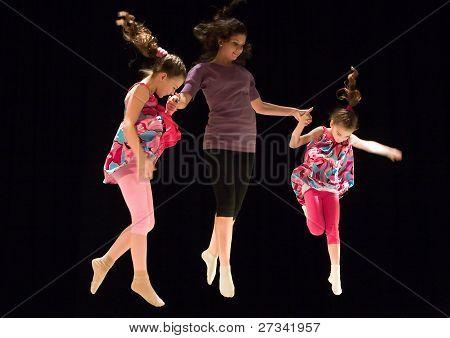 Flying girls