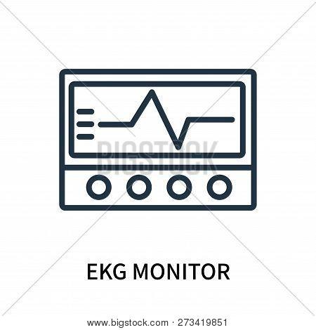 Ekg Monitor Icon Isolated On White Background. Ekg Monitor Icon Simple Sign. Ekg Monitor Icon Trendy