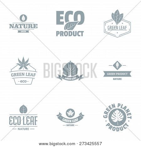 Eco Journey Logo Set. Simple Set Of 9 Eco Journey Logo For Web Isolated On White Background