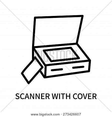 Scanner With Cover Icon Isolated On White Background. Scanner With Cover Icon Simple Sign. Scanner W