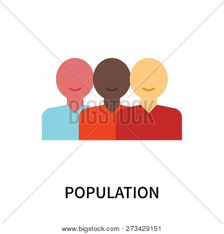 Population Icon Isolated On White Background. Population Icon Simple Sign. Population Icon Trendy An