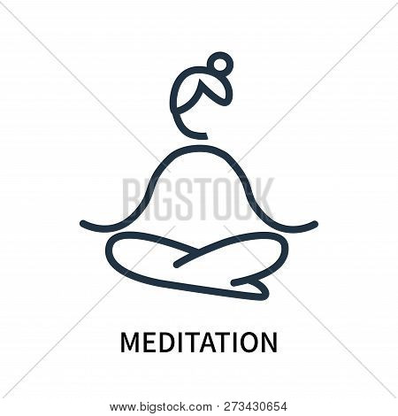 Meditation Icon Isolated On White Background. Meditation Icon Simple Sign. Meditation Icon Trendy An