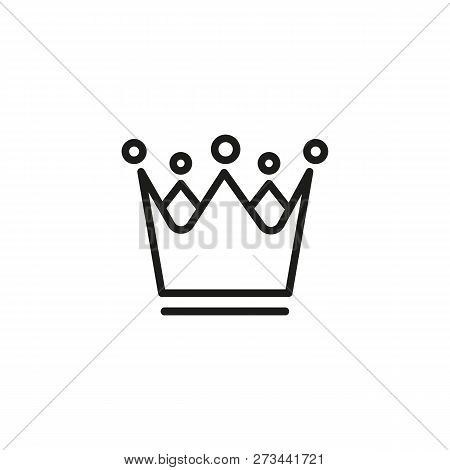 Royal Crown Line Icon. Decoration, Leader, Boss. Medieval Concept. Can Be Used For Topics Like Leade