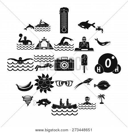 Plunge Icons Set. Simple Set Of 25 Plunge Icons For Web Isolated On White Background